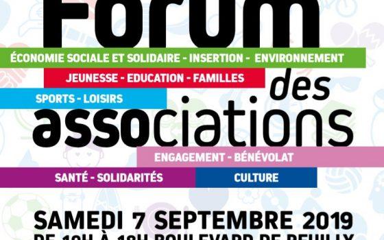 Forum des associations le 7 Septembre 2019