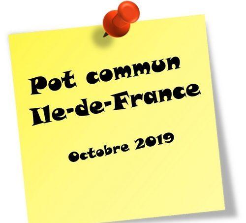 Pot commun Ile-de-France – Octobre 2019